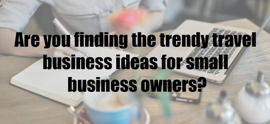 Are you finding the trendy travel business ideas for small business owners?